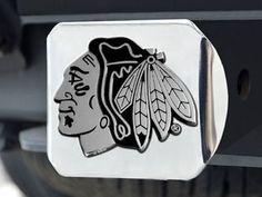 "NHL - Chicago Blackhawks Hitch Cover 3.4""""x4"""""