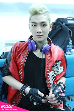Baekho (Nu'est) - I love it when he smiles, such a cutie...