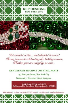 KEP Holiday Party + Sale