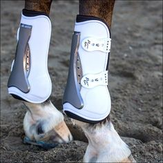 These boots feature a ventilated dual hardness outer shell which is designed to dissipate energy when the strike area is hit. The shock absorbing air cushion fits in an anatomically shaped strike area, reducing the force of impact and then returning to its original shape. Features an adjustable and durable TPU fasteners. Perfect for both schooling and the show ring. Sold in Front and Rear Pairs. Horse Boots, Equestrian Boots, Equestrian Outfits, Equestrian Style, Equestrian Fashion, Horse Gear, Poney Welsh, Horse Riding, Riding Boots