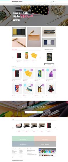 Stationery Online Store #OpenCart #webtemplate #themes #business #responsive #template