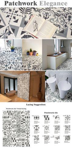 Zementfliesen Mosaico Patchwork / Cement tiles patchwork / Mosaico Carreaux de ciment Patchwork Elegance