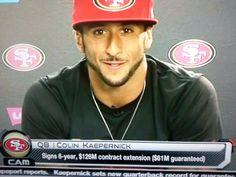 Video of Colin Kaepernick Mega Contract Extension 6 Year $61 Million Garuntee NFL...