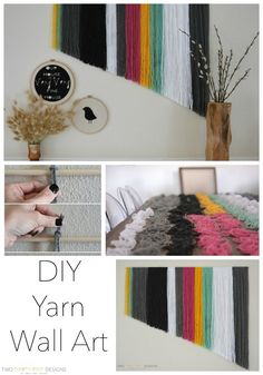 DIY Yarn Wall Art - Two Thirty-Five Designs