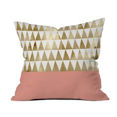 A romantic vision of solid pink and golden watercolor, the Daydream Queen Pillow will make a gorgeous accessory to your recreational reverie. Made of 100 percent woven polyester, this pillowcase will p...  Find the Daydream Queen Pillow, as seen in the We Love 1950s Style Collection at http://dotandbo.com/collections/we-love-1950s-style?utm_source=pinterest&utm_medium=organic&db_sku=107044