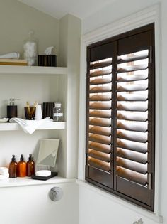 Shutters for small rooms | Bathroom shutters. Source: www.shutterlyfabulous.com
