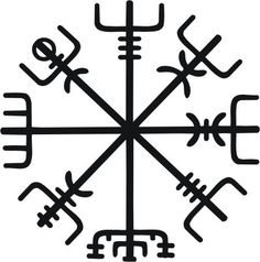 Viking Compass, keeps one from losing ones way in bad weather. My future tattoo.