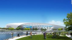 """An 80,000-seat stadium for the Los Angeles Rams will be just the """"cornerstone"""" of a new 300 acre entertainment district dubbed """"NFL Disney World"""" by owners. Take a look..."""