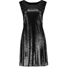 Boohoo Clara Sequin Tabard Shift Dress ($22) ❤ liked on Polyvore featuring dresses, bodycon cocktail dress, sequin cocktail dresses, party dresses, cocktail party dress and maxi slip dress