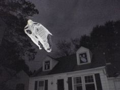 DIY Flying Ghost. Too awesome for words.