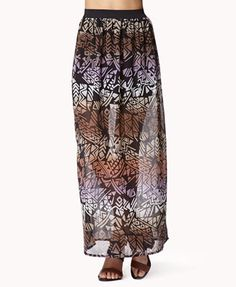 #Forever21                #Skirt                    #Striped #Tribal-Inspired #Maxi #Skirt              Striped Tribal-Inspired Maxi Skirt                                            http://www.seapai.com/product.aspx?PID=15640