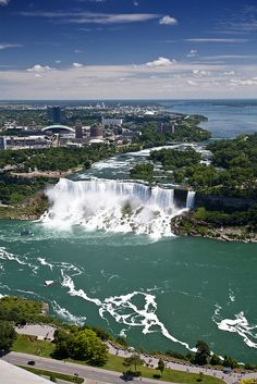 This is looking the other way from our room ... looking at the american falls, at night this is a site to see!!!