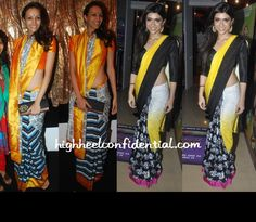 There is something quirky about masaba sarees...
