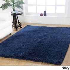 Affinity Home-soft Luxurious Plush Shag Rug (4' x 6') (Navy), Blue, Size 4' x 6'