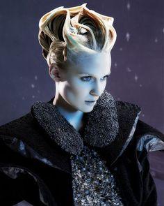 sculptural hair