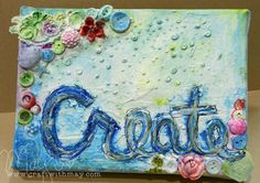 Love this canvas by May for the Simon Says Stamp Monday challenge (Paint) June 2014