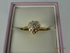 Gold Pre Loved 18ct Solid Yellow Gold 11Diamond Cluster Ring 2.5grms (eBay item 320924790356 end time 20-Jun-12 19:15:07 AEST) : Jewellery Watches