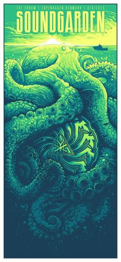 35 Stunning Gig Posters.  Soundgarden by Dan Mumford.