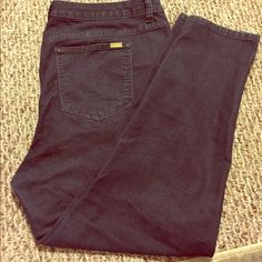 Jennifer Lopez Skinny Jeans Dark wash Jennifer Lopez skinny jeans. Very stretchy. They fall just below the ankle and are mid rise. They have gold detailing on the back pocket. Jennifer Lopez Jeans Skinny