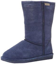 BEARPAW Womens Meadow Short 8-Inch Suede Sheepskin Boot,Chocolate,US 6