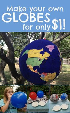 Make your own classroom globes, using a balloon and papier-mâché. This project will only cost you $1 per globe!