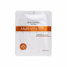 Amazon.com: Missha Multi-Vita Real Essential Sheet Mask: Beauty