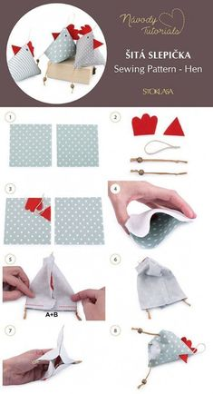 Most recent Absolutely Free sewing hacks pin cushions Thoughts Šitá slepička / Sewing Pattern - Hen tutorial - zahl. Easy Sewing Projects, Sewing Projects For Beginners, Sewing Hacks, Sewing Tutorials, Sewing Crafts, Sewing Patterns, Dress Tutorials, Dress Patterns, Begginer Sewing Projects