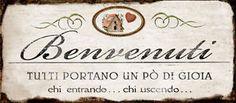 TARGHETTA-SPIRITOSA-BENVENUTI-TUTTI-PORTANO-UN-PO-039-DI-GIOIA-CHI-ENTRANDO-CHI-USC