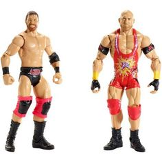 WWE Curtis Axel and Ryback Action Figures, 2 Pack, Multicolor
