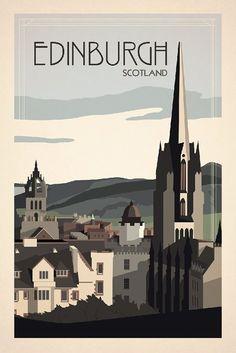 Edinburgh, Scotland UK: Beautiful City Poster ART Examples (25)