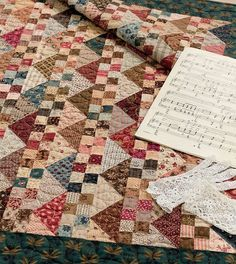 ⭐ Just released! ⭐ Reproduction-fabric lovers, rejoice - best-selling author Carol Hopkins is back with the third book in her wildly popular series. Civil War Legacies III features classic blocks in small quilts that will put even your tiniest reproduction scraps to use. (THIS is why you've been saving them!) See this Parlor Music quilt and 15 more of Carol's designs at ShopMartingale. #reproductionfabric #reproductionquilt #civilwar