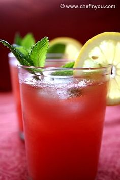 Watermelon Juice! So good! Couldn't get enough when I was in Mexico! This recipe calls for lemon, others say to use lime...