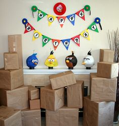Angry Bird party decor
