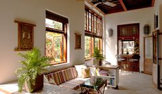 """Would you believe me if I told you this """"beautifully restored, bright and airy, three bedroom interior - designed flat is located in a… Indian Interior Design, Indian Home Design, Kerala House Design, Door Design Interior, Flat Interior, Indian Home Decor, Interior Designing, Indian Interiors, Design Your Dream House"""