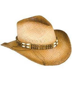 4634122b0f6fa New 2-Tone Woven Cowboy Cowgirl Hat with Beaded Band Rhode Island Novelty