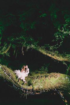 Wedding goals! Cute idea to climb a tree! So romantic. View the full wedding here: http://thedailywedding.com/2016/05/11/southern-oak-grove-wedding-corbin-kailee/