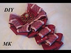 ▶ Как сделать брошь - галстук МК.DIY how to make a brooch tie their hands - YouTube