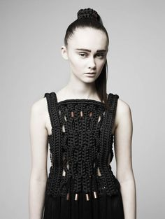 Eleanor Amoroso is the latest novelty knitwear designer pushing boundaries when it comes to materials and technique.