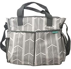 Diaper Bag By Bambini & ME- Stylish Arrows Functional Baby Stroller Organizer - Adjustable Stroller Strap - Eight Total Pockets - Easy to Clean - BONUS: Baby Changing Pad