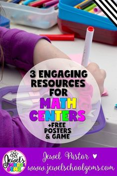 Need some fresh, fun and fabulous resources for your Math Centers? Read about three engaging resources that you can use and grab freebies! Math Activities, Teacher Resources, Teacher Blogs, Teachers Toolbox, Teaching Math, Teaching Tools, Kindergarten Math, Preschool, Free Posters