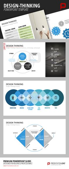 Design Thinking integrates business, technology and people. With these templates from PresentationLoad, you are able to demonstrate how important Design Thinking is.  http://www.presentationload.com/design-thinking-templates.html