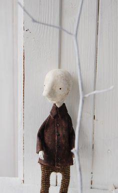Paper clay man, puppet, sculpture