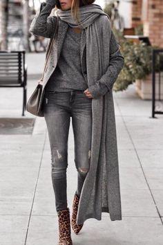 All gray + leopard print booties! - - All gray + leopard print booties! – Source by mangellipodevin - Pinterest Mode, Pinterest Fashion, Black Women Fashion, Trendy Fashion, Womens Fashion, Fashion Top, Cheap Fashion, Fashion 2018, Fashion Online