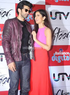 Katrina Kaif and Aditya Roy Kapur at a promotional event for #Fitoor. #Bollywood #Fashion #Style #Beauty #Hot #Sexy #Cute
