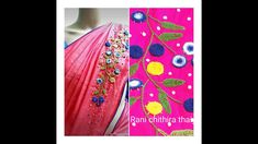 Hand embroidery  saree design/ saree design ./spider web stitch/Rani chi... Embroidery Saree, Hand Embroidery, Embroidery Designs, Types Of Hands, Spider, Make It Yourself, Stitch, Spiders, Full Stop