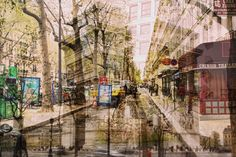 French Streets Double Exposure