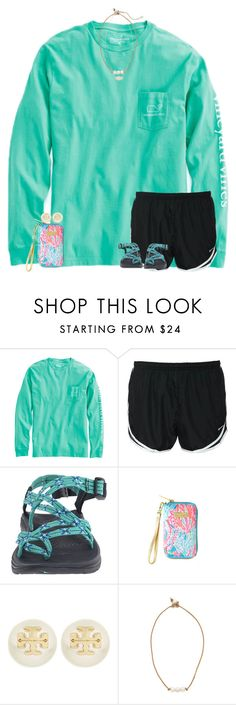"""""""Contest"""" by sweettoothegj ❤ liked on Polyvore featuring Vineyard Vines, NIKE, Chaco, Lilly Pulitzer, Tory Burch, Lead and Kendra Scott"""