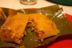 puerto rican recipes |   Pasteles (  Puerto Rican  Tamales).....It's  a  green banana  or  Cassava  base  dough  stuffed with  pork and wrapped in  banana leaves  or  parchment paper  and  boiled.  So  yummy!