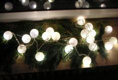 details zu led lichterkette mit 50 kugeln warmwei partylichterkette gartenbeleuchtung top. Black Bedroom Furniture Sets. Home Design Ideas