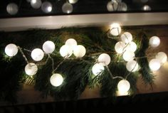 Upcycling: Make a chain of lights from deo roll-on balls